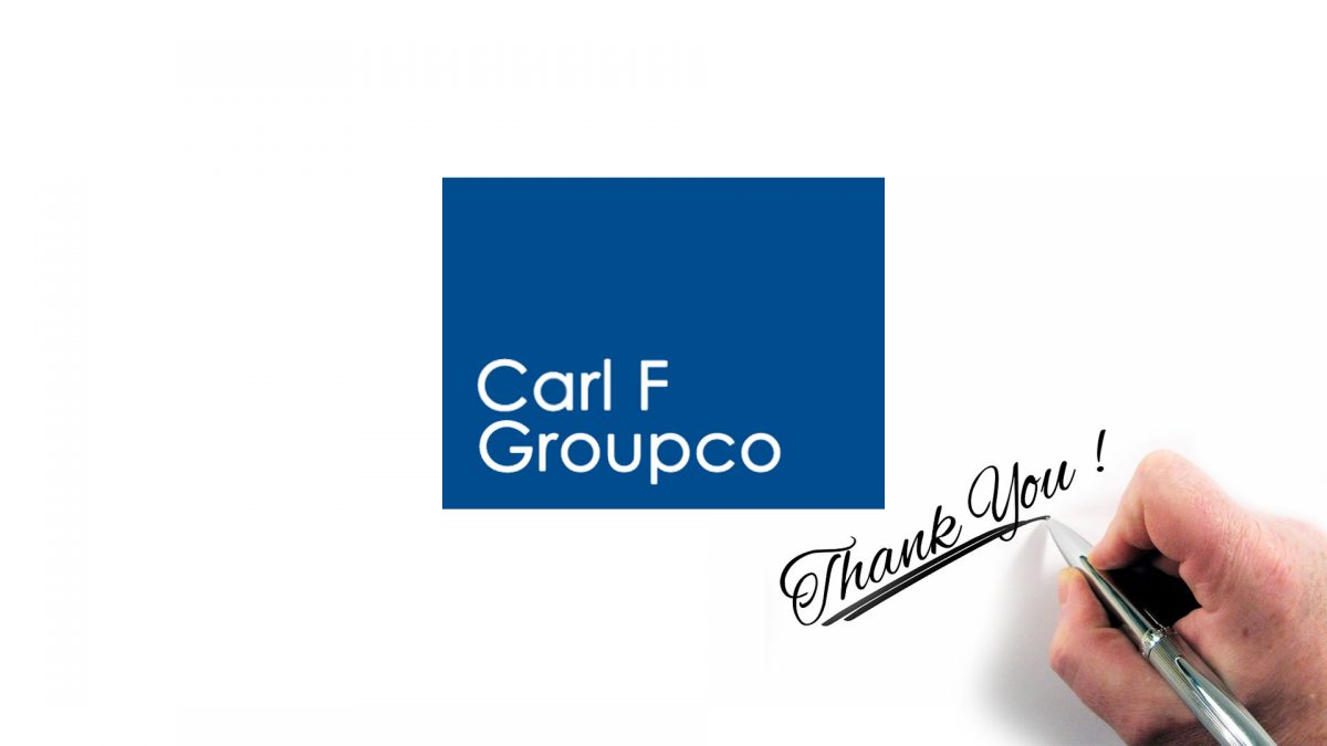 Thank you Carl F Groupco