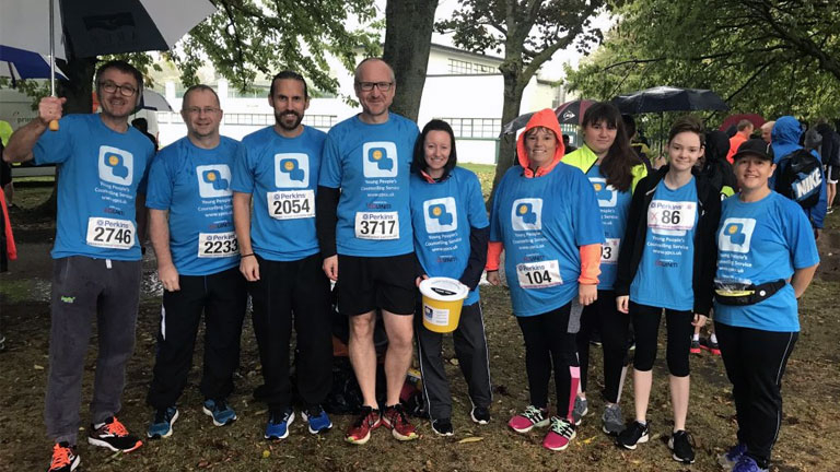 Runners Brave Torrential Rain to Run the GER for YPCS